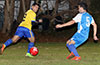 Gio Espinoza(left) with Jose Gutierrez of FC Tuxpan and Nick Escalante of Tortorella Pools watching the ball